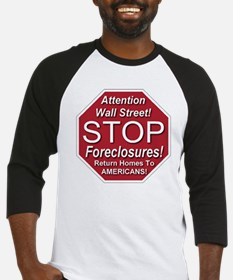 attention_Wall_Street_stop_foreclo Baseball Jersey