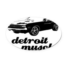 Detroit Muscle Oval Car Magnet