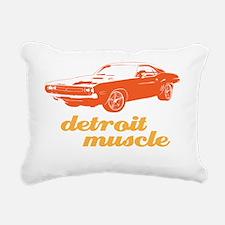 Detroit Muscle blk Rectangular Canvas Pillow