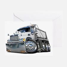 Mack Dump Truck White Greeting Card