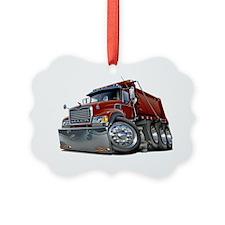 Mack Dump Truck Maroon Ornament