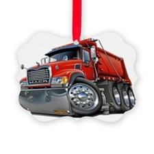 Mack Dump Truck Red Ornament