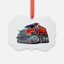 Mack Dump Truck Red Ornament