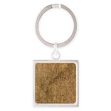 burlap sack Square Keychain