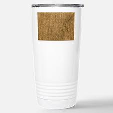 burlap coin Travel Mug