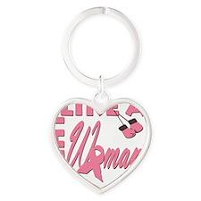 FightLikeA-Woman Heart Keychain