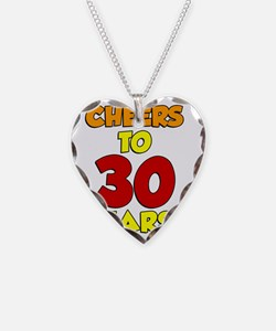 Cheers To 30 Years Glass Necklace