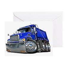 Mack Dump Truck Blue Greeting Card
