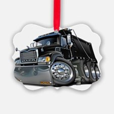 Mack Dump Truck Black Ornament