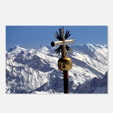 A cross marks the summit  Postcards (Package of 8)