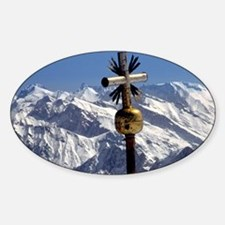 A cross marks the summit of the Zug Decal