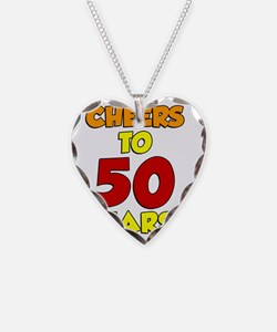 Cheers To 50 Years Glass Necklace