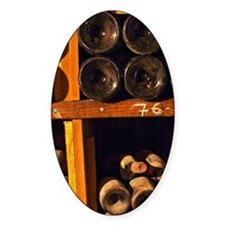 Old wine bottles aging in the wine  Decal