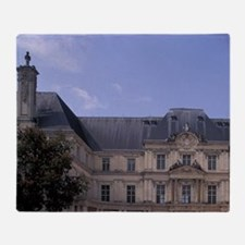 Cher. Chateau de Blois. Main courtya Throw Blanket