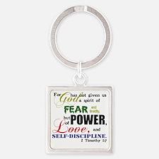 powerLove Square Keychain