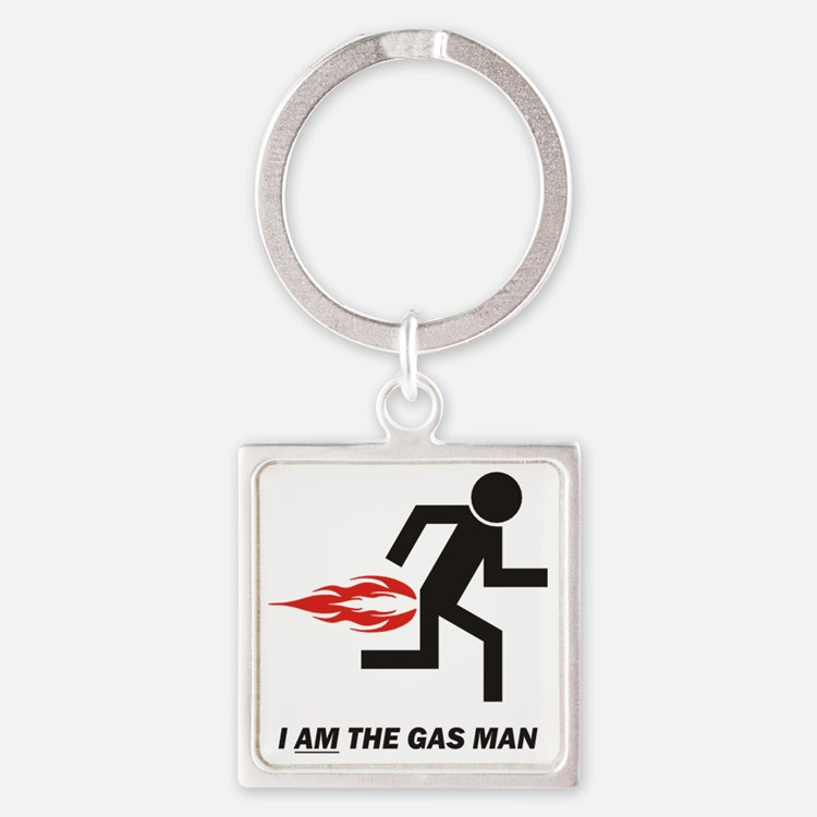 GAS MAN Square Keychain