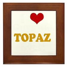 884772topazeyesdark Framed Tile