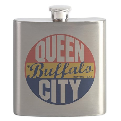 Buffalo Vintage Label B Flask