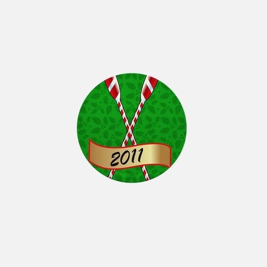 ornament_ovalgr Mini Button