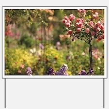 Claude Monet's Gardens, Spring flowersla Yard Sign