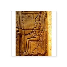 """Relief of Pharaoh Square Sticker 3"""" x 3"""""""