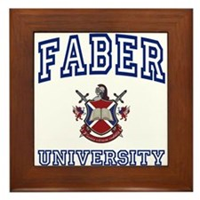 FABER University Framed Tile