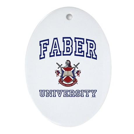 FABER University Oval Ornament