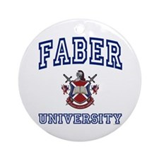 FABER University Ornament (Round)