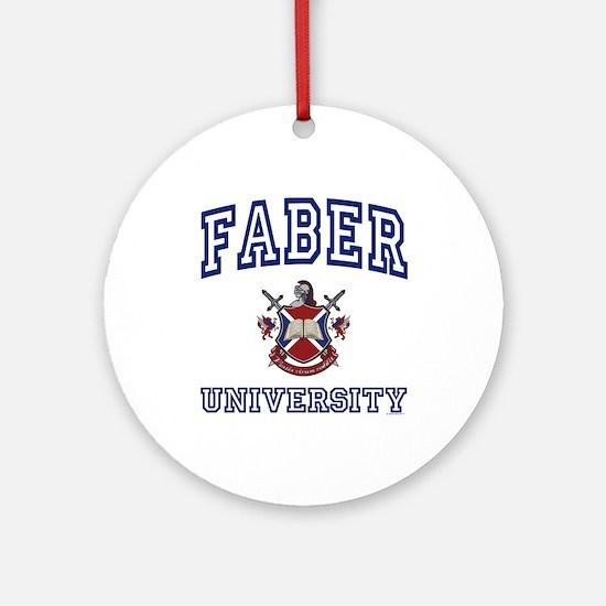 FABER University Ornament (Round)