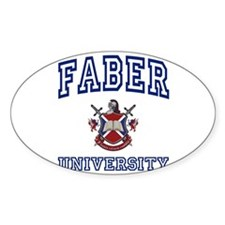 FABER University Oval Decal