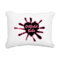 Logooilfieldbabe Rectangular Canvas Pillow