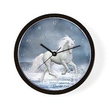 white_unicorn_large_wall_clock Wall Clock