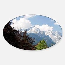 Austrian Alps and the alpine villag Decal