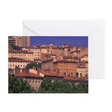 Lyon. Croix Rousse District; Rhone R Greeting Card