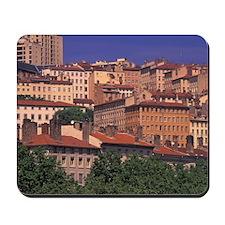 Lyon. Croix Rousse District; Rhone River Mousepad