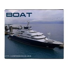 boat cover Throw Blanket