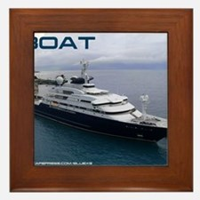 boat cover Framed Tile