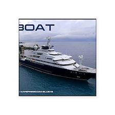 """boat cover Square Sticker 3"""" x 3"""""""