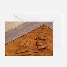 Medieval shoe makers sign, Wertheim, Greeting Card