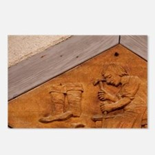 Medieval shoe makers sign Postcards (Package of 8)