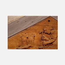 Medieval shoe makers sign, Werthe Rectangle Magnet