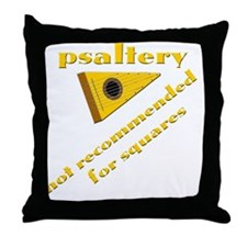 funny bowed psaltery and psalteries Throw Pillow