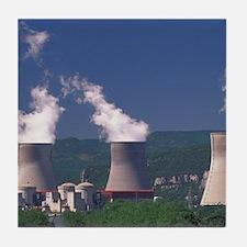 Pierrelatte. Nuclear reactor towers b Tile Coaster