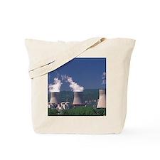 Pierrelatte. Nuclear reactor towers by Rh Tote Bag