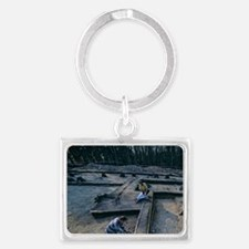 Burial site of the Sky Disk Age Landscape Keychain