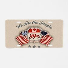 99-hwy-flag2-col-OV Aluminum License Plate