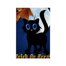 LargePoster Trick or Treat Black  Rectangle Magnet