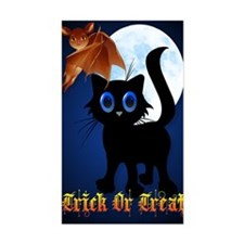 LargePoster Trick or Treat Bla Decal