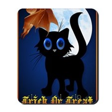 LargePoster Trick or Treat Black Kitty a Mousepad