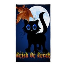 LargePoster Trick or Treat Black Ki 3'x5' Area Rug